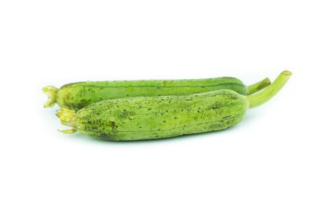 Sponge Gourd Vegetable Sponge( Luffa cylindrica) isolated on white background Stock Photo
