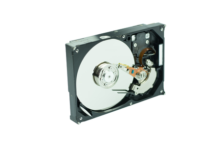 hard drive: hard disk isolated on white background Stock Photo