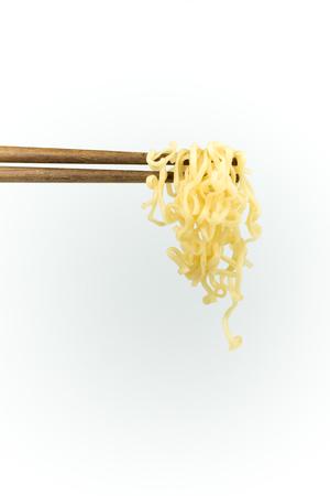 chopsticks noodles isolated on white background