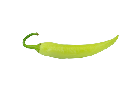 green chilli isolated on white background Stock Photo