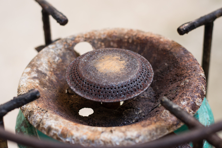 old gas stove: old gas stove is rust