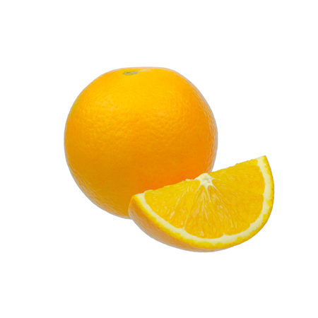 navel oranges on white background Stock Photo