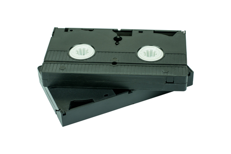 videotape: Videotape Isolated On White Background.