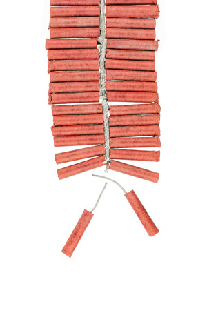 Red Firecrackers isolated on white background