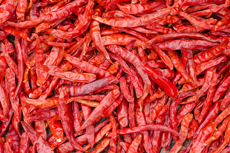 Red chilli background.