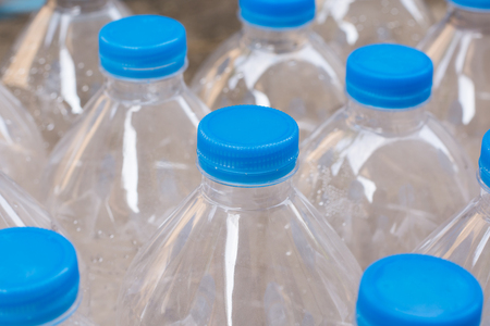 purified: Rows of water bottles