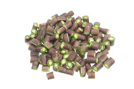 purple yardlong bean isolated on white background Stock Photo
