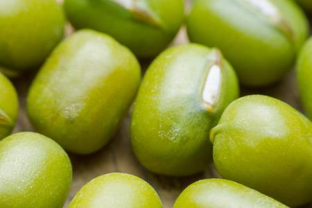 mung: close up green bean or mung bean background