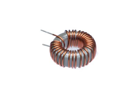 Bouchent les bobines de cuivre inducteur isolés sur fond blanc Banque d'images - 85466173