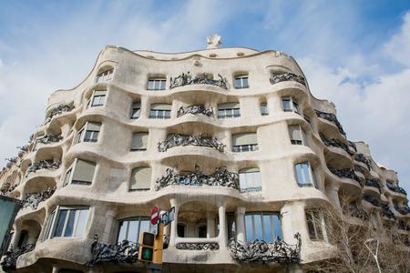 BARCELONA SPAIN - MARCH 19, 2018 : Barcelona, Spain. Famous building Casa Batllo by Gaudi Redakční