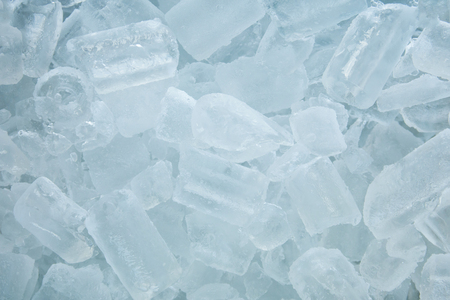 Ice tube in the bucket background. Ice tube for the drink. Stock Photo