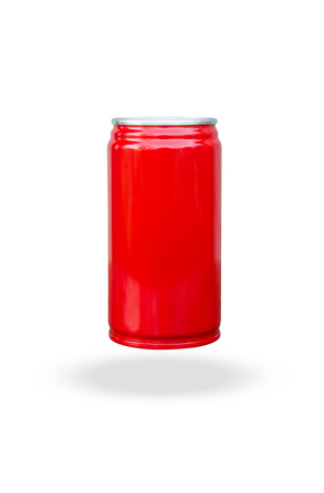 Red slim can short isolated on white background with clipping path