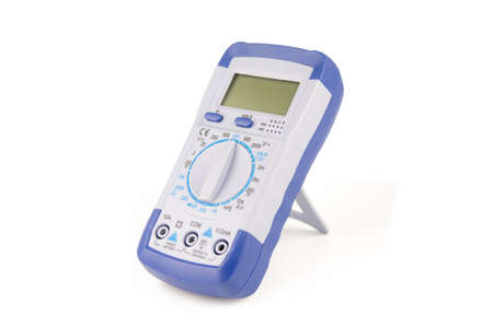 Digital multimeter isolated on white background