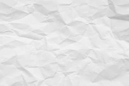 White crumpled paper texture background. Archivio Fotografico