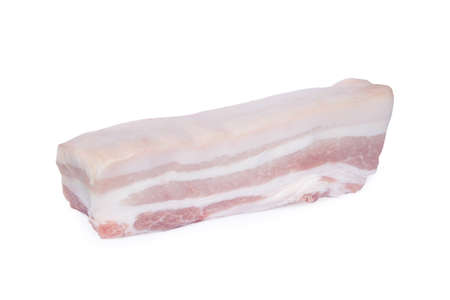 Pork belly isolated on white background with clipping path Imagens