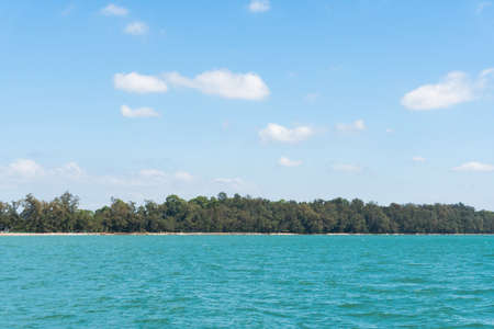 Sea and clear sky nature background