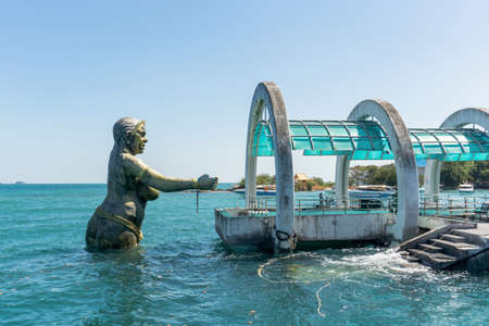 Samet island, Rayong, Thailand - Dec 5, 2020 : Samet island port