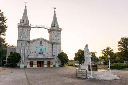 November 27,2020 : Church in nakhon phanom Thailand (wat nak bun anna)