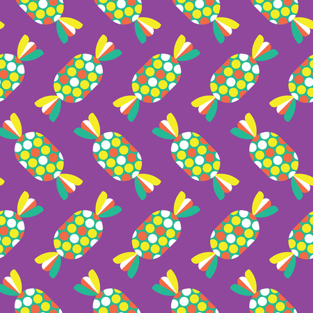 toffee: Seamless Toffee Pattern, Candy Vector Illustration