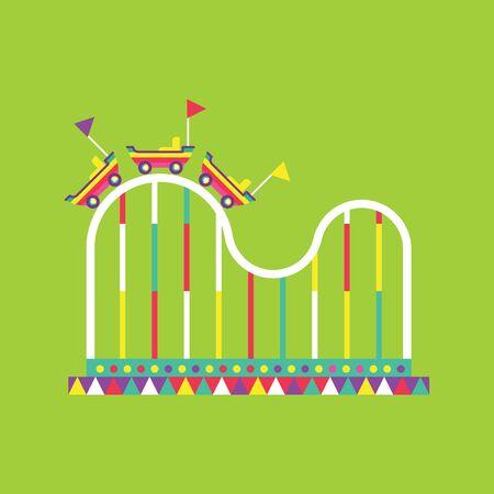 roller coaster icon, amusement park