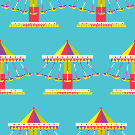 amusement: Swinging ride Icon, amusement park Illustration