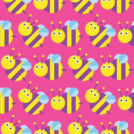 Seamless bee pattern icon vector, Insect Vector 矢量图像