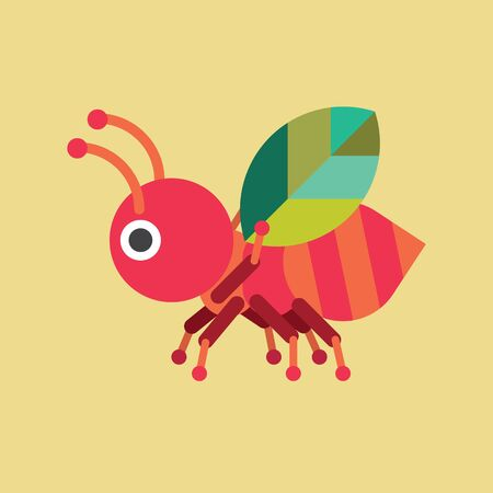 leaf insect: Ant with Leaf Icon, Insect Vector