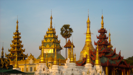a temple in burma at the sightseeing tour Stock Photo