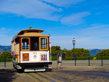 San Francisco with the tram to the city Editorial