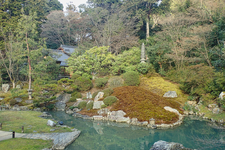 a pond in a park in tokyo japan