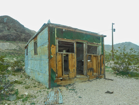 old rusty hut in the prairie