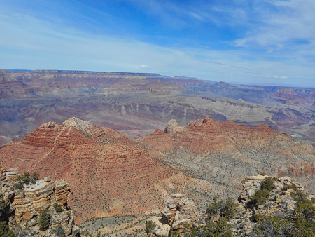 view to the rocks in the grand canyon