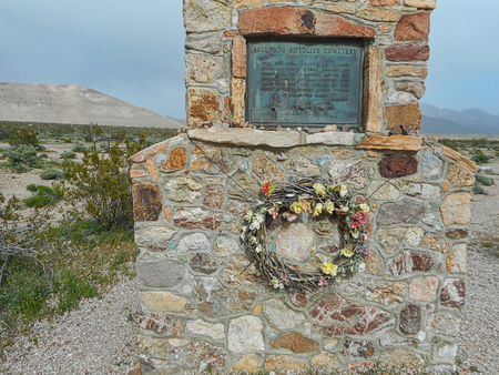 the bullfrog cemetery in the usa at summer