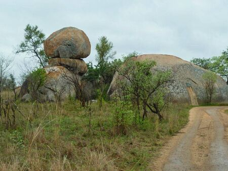 a hut in the rock in africa Stockfoto