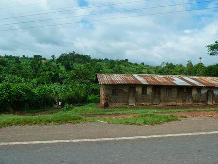 old rusty hut beside a street