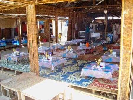 a vietnam restaurant in burma at summer Stockfoto