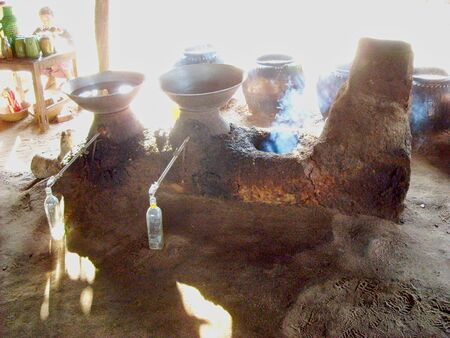 pots with smoke and water in vietnam