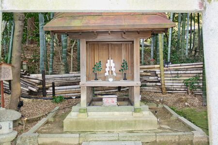 a small shrine in a park in tokyo