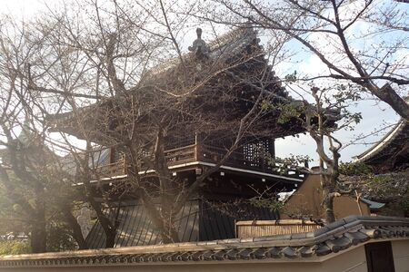 a japanese house in a park in tokyo Banco de Imagens