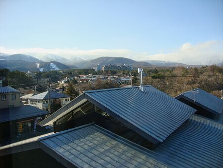 view to the mountains in tokyo in winter
