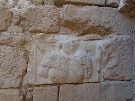 The temple ruins in jordan at summer