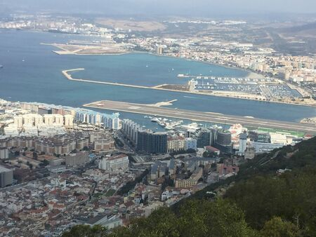 view to gibtraltrar in summertime 스톡 콘텐츠
