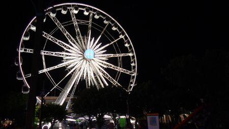 a big wheel at night in summer Stok Fotoğraf