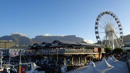 the pier in cape town city at summer