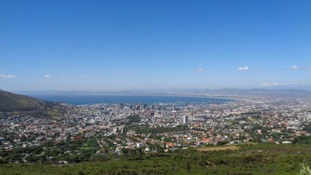 view to cape town city in africa at summer Stock Photo