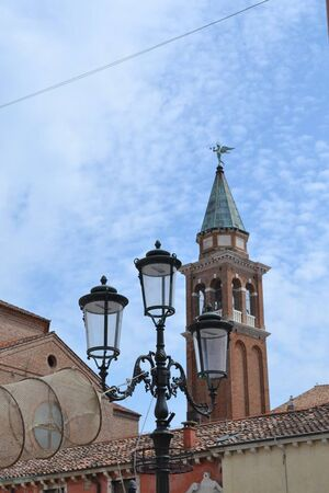 view to the tower from veneto italy