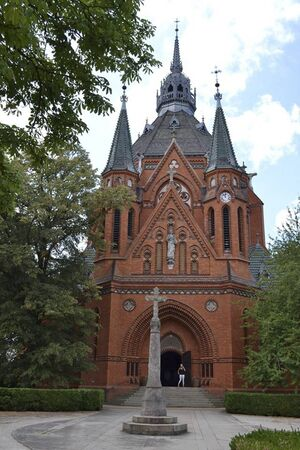 the Church of the Visitation of Our Lady in czech at summer