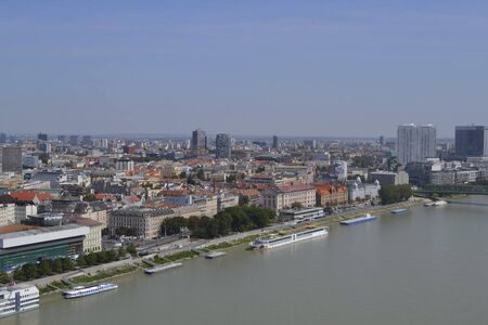 view above bratislava at summertime Standard-Bild