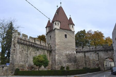 an old castle in the city insidde