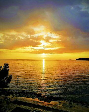 sunset over the ocean at summertime Reklamní fotografie